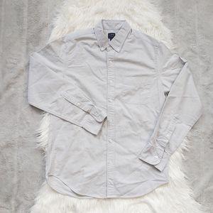 J CREW Oxford Shirt Flex slate gray button up